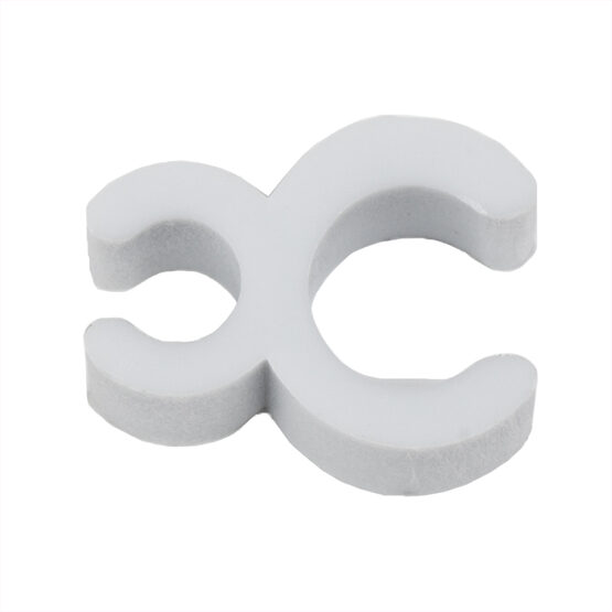 "3/16"" White Sculpture Clip, Pack of 100"