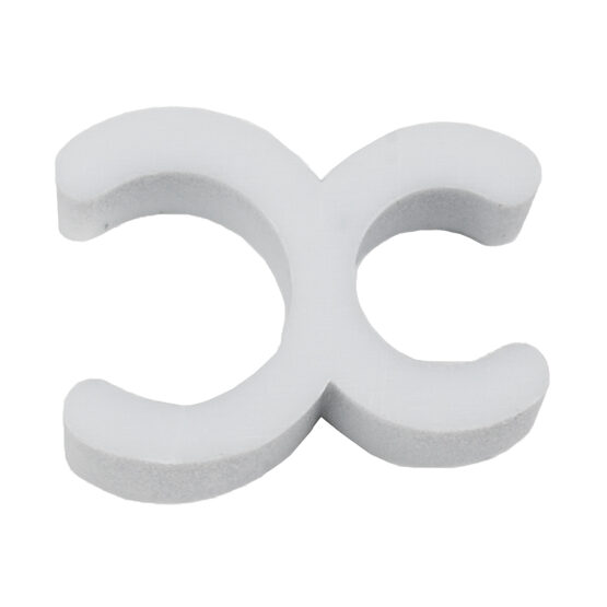 "1/4"" White Sculpture Clip, Pack of 100"