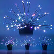Silver Starburst LED Lighted Branches, RGB Lights, 3 pc