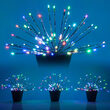 Silver Starburst LED Lighted Branches, Multicolor Color Change Lights, 3 pc
