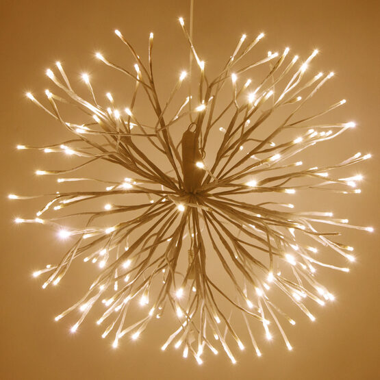 White Starburst LED Lighted Branches, Warm White Twinkle Lights, 1 pc