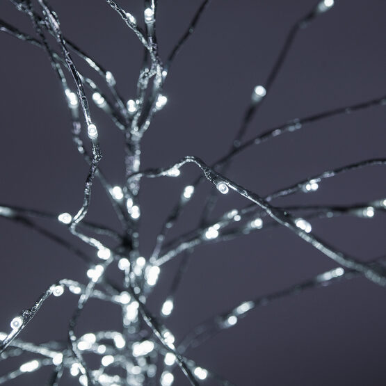 Silver LED Lighted Branches, Cool White Twinkle Lights, 1 pc