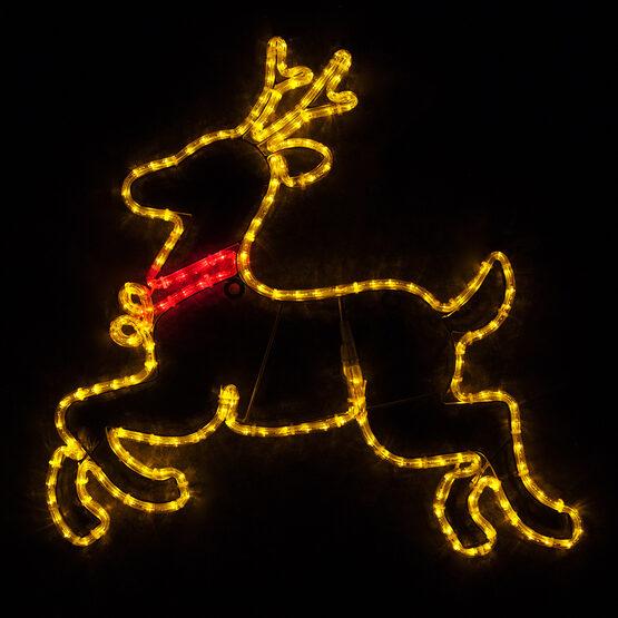 Reindeer, Gold LED Lights