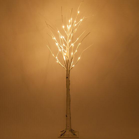 4' Warm White LED Birch Tree