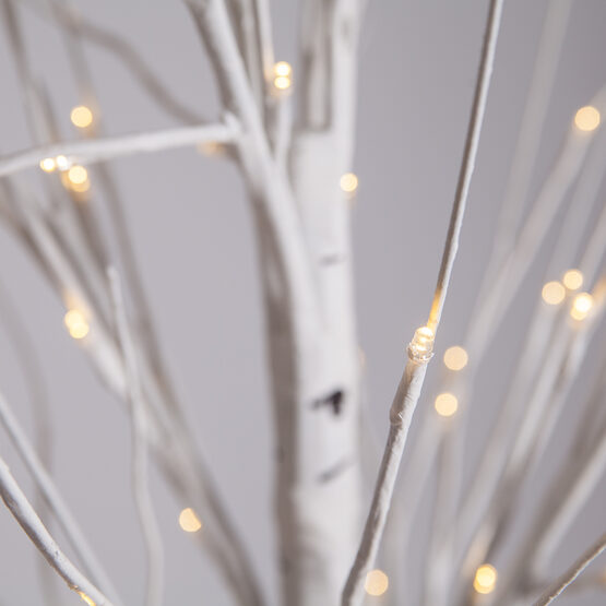 2.5' Warm White LED Birch Tree