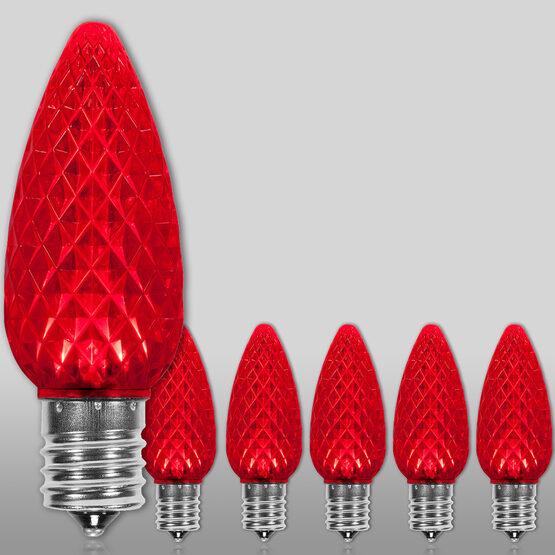 C9 OptiCore LED Light Bulbs, Red