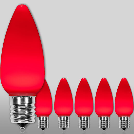 C9 Smooth OptiCore LED Light Bulb, Red