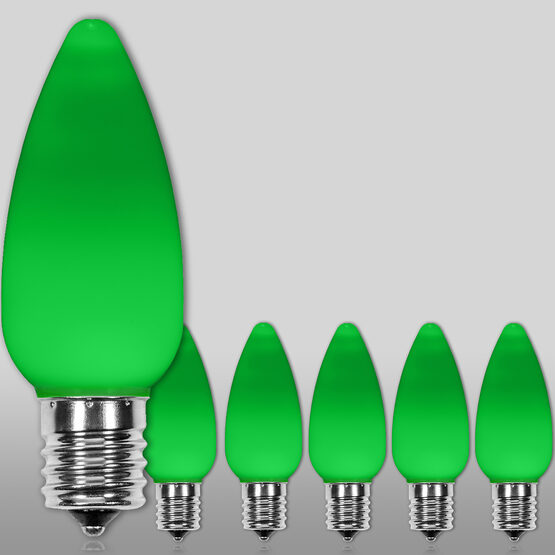 C9 Smooth OptiCore LED Light Bulbs, Green
