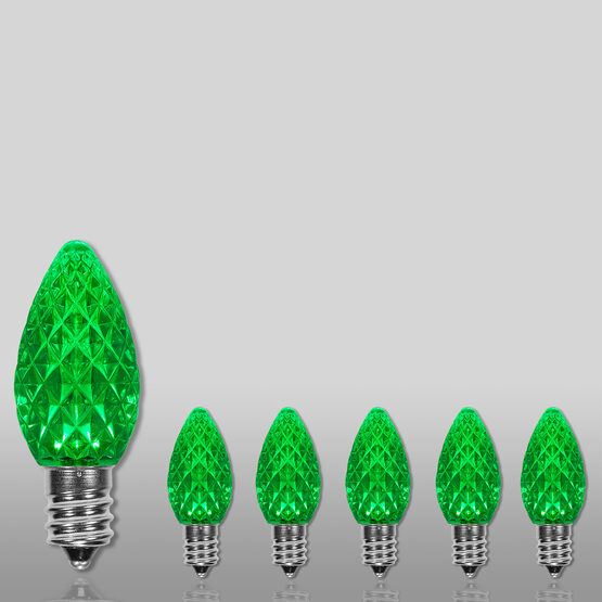 C7 OptiCore LED Light Bulb, Green