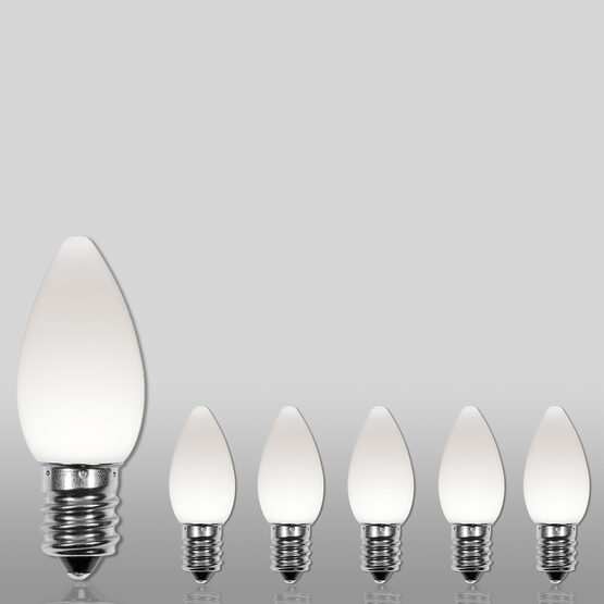 C7 Smooth OptiCore LED Light Bulb, Cool White