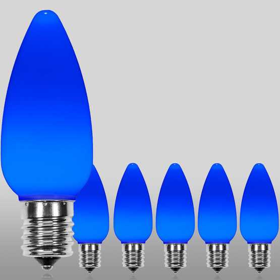 C9 Smooth OptiCore LED Light Bulb, Blue