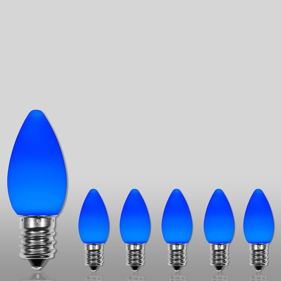 C7 Smooth OptiCore LED Light Bulb, Blue