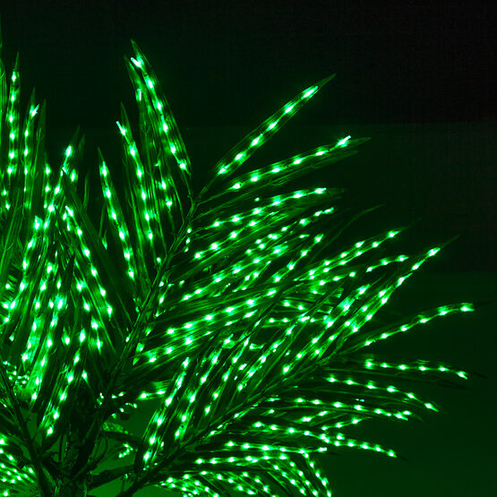 Curved Commercial LED Lighted Palm Tree With Base