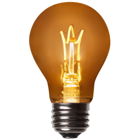 A19 FlexFilament TM LED Edison Light Bulb, Warm White Antiqued Glass
