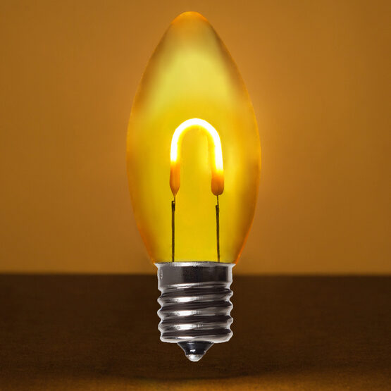 C9 Vintage LED Light Bulb, Gold Transparent Acrylic