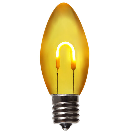 C9 FlexFilament TM Vintage LED Light Bulb, Gold Transparent Acrylic