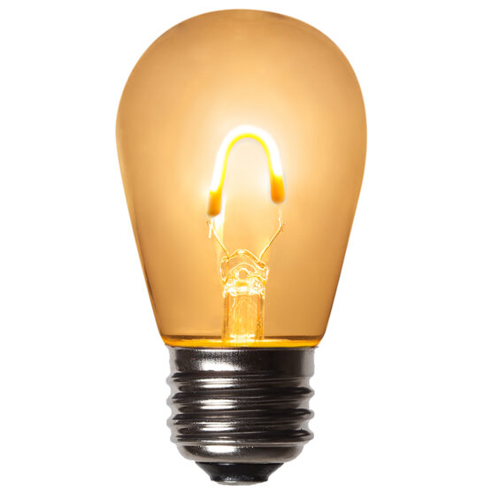 S14 FlexFilament TM Vintage LED Light Bulb, Warm White Transparent Glass