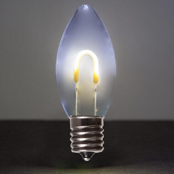 C9 Vintage LED Light Bulb, Cool White Transparent Acrylic