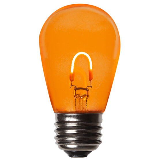 S14 FlexFilament TM Vintage LED Light Bulb, Amber / Orange Transparent Glass