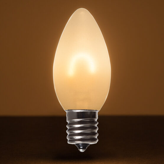 C9 Vintage LED Light Bulb, Warm White Satin Glass