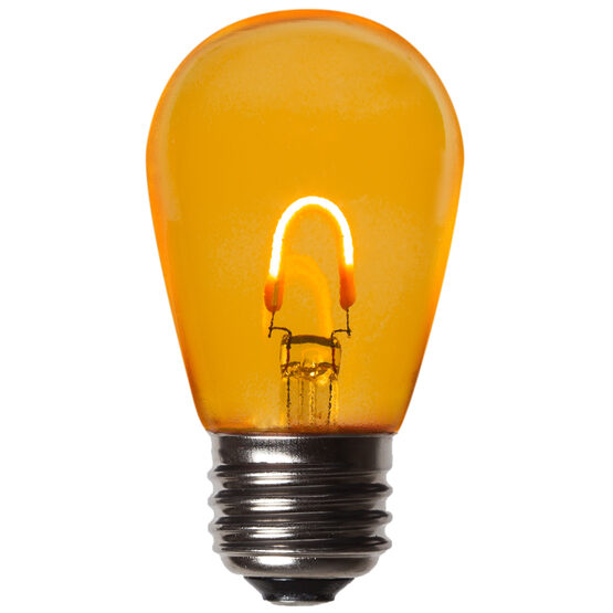 S14 FlexFilament TM Vintage LED Light Bulb, Gold Transparent Glass