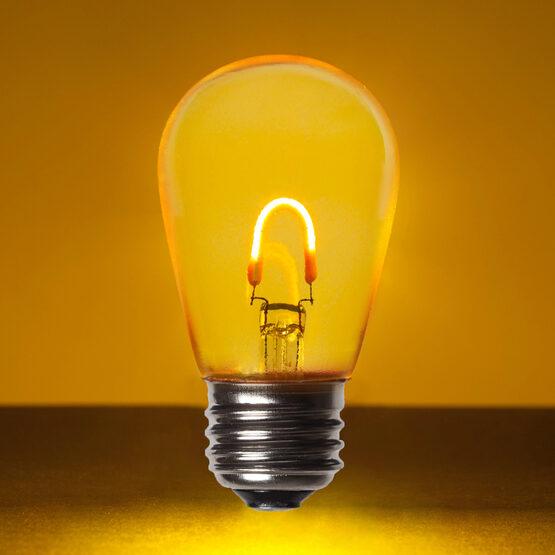S14 Vintage LED Light Bulb, Gold Transparent Glass