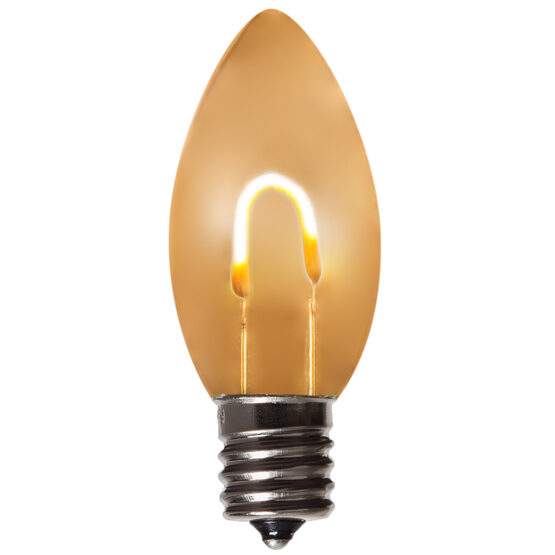 C9 Vintage LED Light Bulb, Warm White Transparent Acrylic