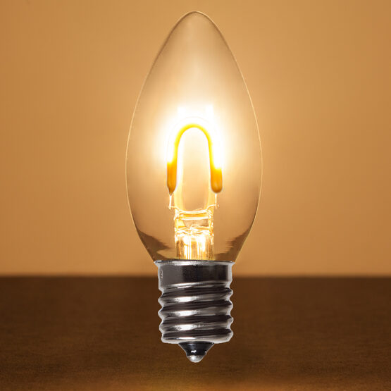 C9 Vintage LED Light Bulb, Warm White Transparent Glass