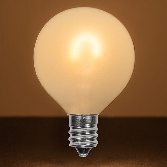 G50 FlexFilament TM Vintage LED Light Bulb, Warm White Satin Glass, E12 Base