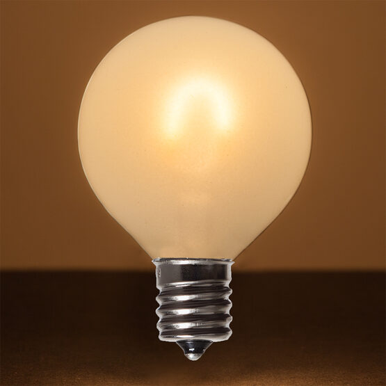 G50 Vintage LED Light Bulb, Warm White Satin Glass, E17 Base