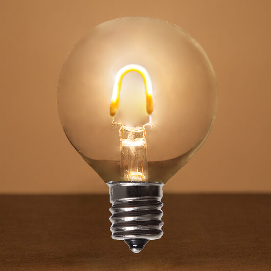 G50 Vintage LED Light Bulb, Warm White Transparent Glass