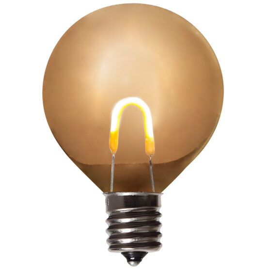 G50 Vintage LED Light Bulb, Warm White Transparent Acrylic