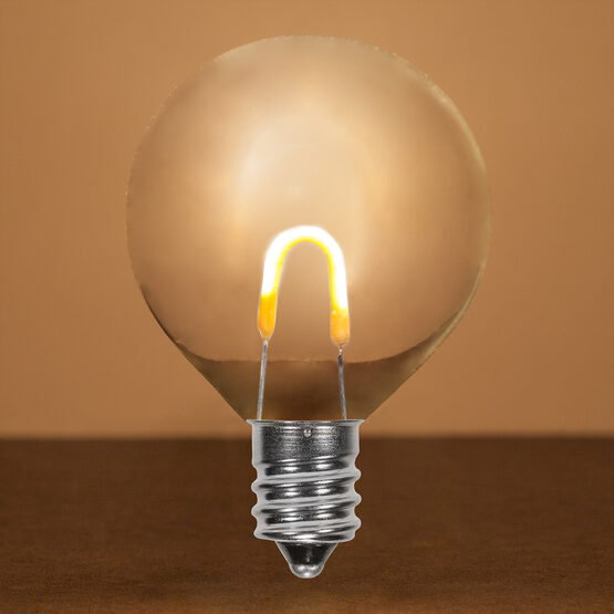 G50 FlexFilament TM Vintage LED Light Bulb, Warm White Transparent Acrylic