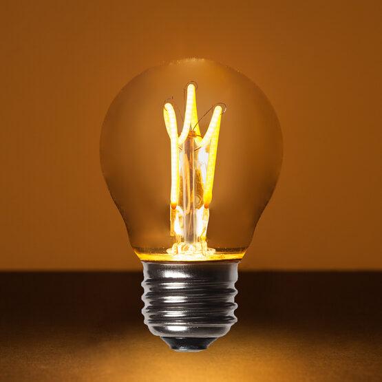 G45 Globe Light LED Edison Light Bulb, Warm White Antiqued