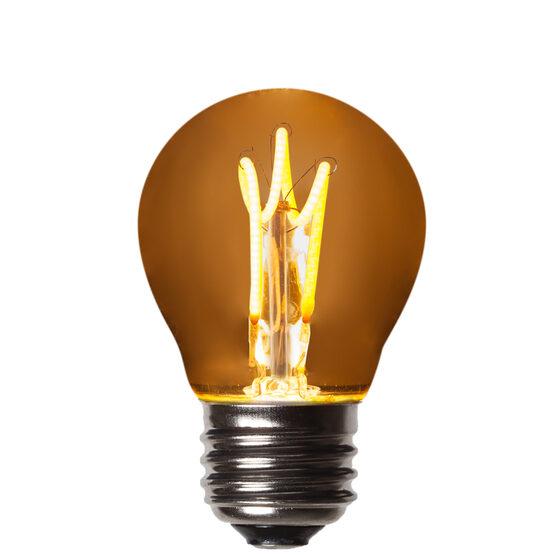 G45 Globe Light FlexFilament TM LED Edison Light Bulb, Warm White Antiqued Glass