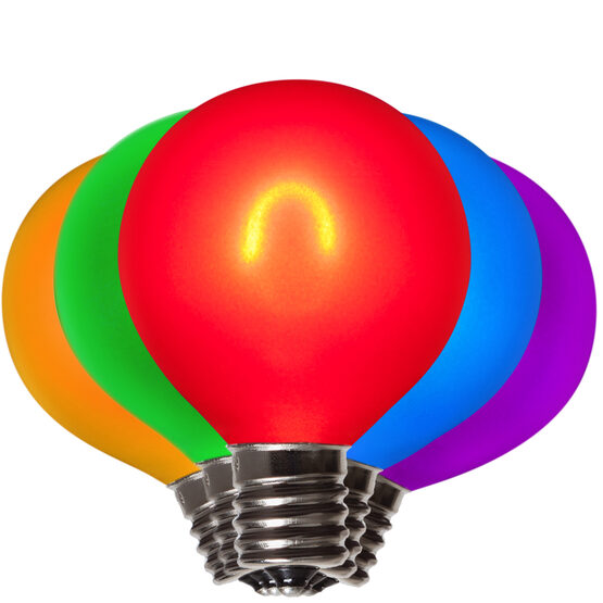 G50 FlexFilament TM Vintage LED Light Bulb, Multicolor Satin Glass