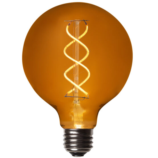 G95 Globe Light LED Edison Light Bulb, Warm White Antiqued Glass