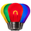 S14 Vintage LED Light Bulb, Multicolor Transparent Acrylic
