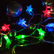 Battery Operated LED Star Lights String Lights, 10 Red, Green, Blue Twinkle Lights