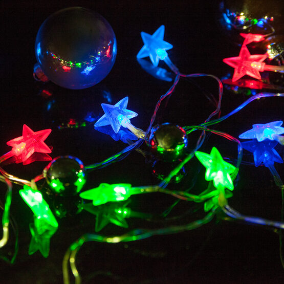 battery operated led star lights string lights 10 red green blue twinkle lights
