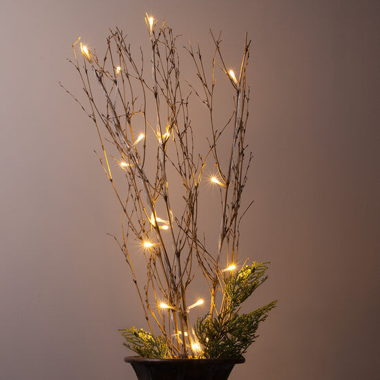Battery Operated Brown Bamboo Lighted Branches with Warm White LED Lights, 1 pc