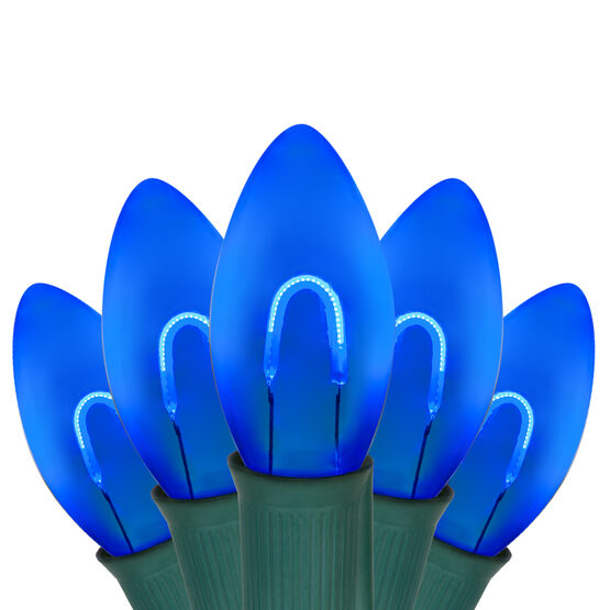 C9 FlexFilament TM Vintage LED String Lights, Blue Transparent Acrylic