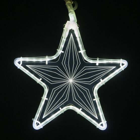 Clear Star Light with Geometric Laser Etching