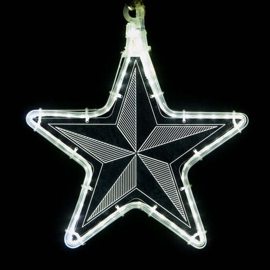 Clear Star Light with Pinwheel Laser Etching