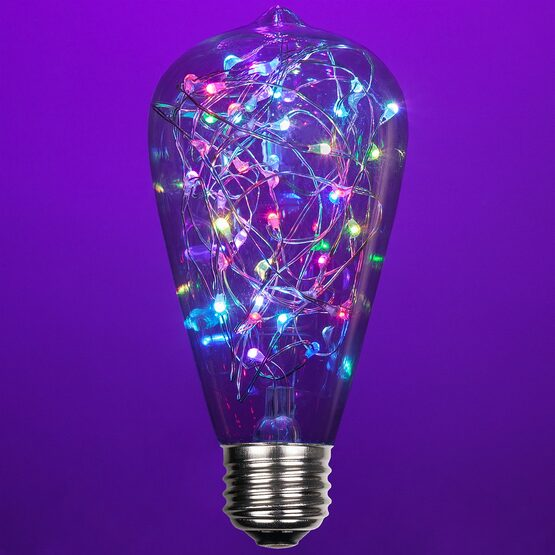 ST64 LEDimagine TM Fairy Light Bulb, RGB Color Change