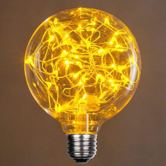 G95 LEDimagine TM Fairy Globe Light Bulb, Gold