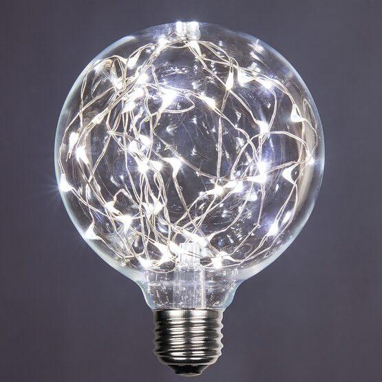 G95 LEDimagine TM Fairy Globe Light Bulb, Cool White