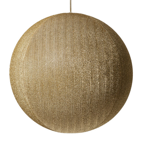 "20"" Gold Inflatable Christmas Ornament, Metallic Polymesh"
