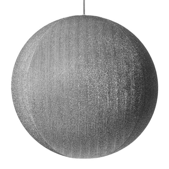"20"" Silver Inflatable Christmas Ornament, Metallic Polymesh"