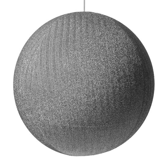 "28"" Silver Inflatable Christmas Ornament, Metallic Polymesh"